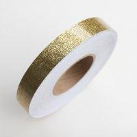 【1mからカット売り!新体操・舞台・映像にも】グリッターテープ・ゴールド