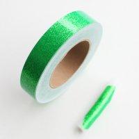 【1mからカット売り!新体操・舞台・映像にも】グリッターテープ・蛍光グリーン