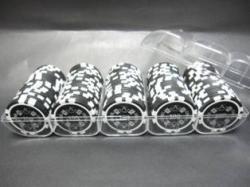 QuattroAssi クアトロアッシーポーカーチップ100枚セット<ブラック[ 100 ]>