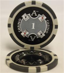 QuattroAssi クアトロアッシーポーカーチップ [1]白 <25枚セット>