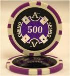 QuattroAssi クアトロアッシーポーカーチップ [500]青紫 <25枚セット>