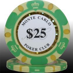 モンテカルロ・ポーカーチップ<25>緑 25枚セット