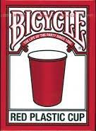 BICYCLE RED PLASTIC CUP バイスクル レッドカップ