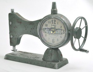 アンティークミシン風時計アイアンフレーム