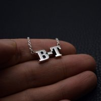 ■メンズネームネックレス【B-T】製作例