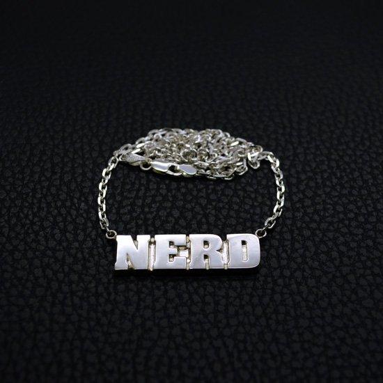 ■シルバー製メンズネームプレートネックレス【Sサイズ】-墨入れ仕上げ-[ブラックスミス書体]
