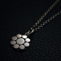 ■家紋 「丸に九陽」 小 銀製ペンダントネックレス製作例