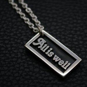 ■メッセージプレートネックレス【All is well】 製作例