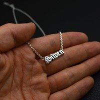 ■Siwen オーダーネームネックレス:Sサイズ オールドイングリッシュ製作例
