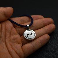 ■丸に二つ巴 家紋ネックレス 製作例