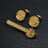 ■オリジナルロゴ ネクタイピンカフスボタンセット製作例