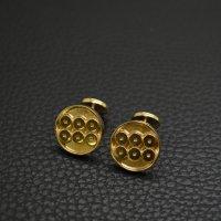 ■真田六文銭 家紋カフスボタン 18金メッキ 製作例