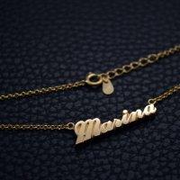 ■Marina ゴールドメッキ ニューヨーク書体 製作例