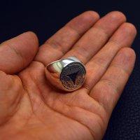 ■三つ追い柏 家紋リング指輪 製作例