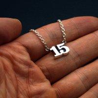 ■15 数字ナンバーネックレス オーダーメイド製作例