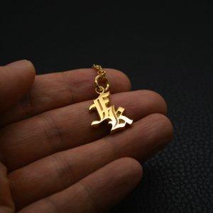 ■【FK】ダブルレタード・イニシャルネックレス 製作例
