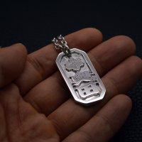 ■五三の桐 奥田さま 八角喧嘩札 銀一色(ロジウムメッキ)製作例