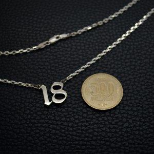 ■ナンバーネックレス【18】オールドイングリッシュ 製作例