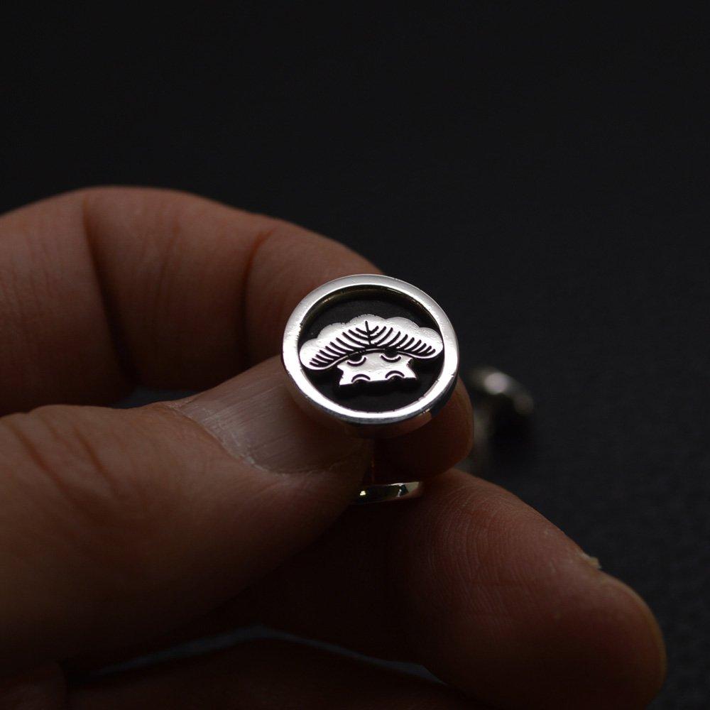 ■丸に一つ松 家紋カフスボタン 製作例