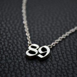 ■ナンバーネックレス【89】オーダーメイド