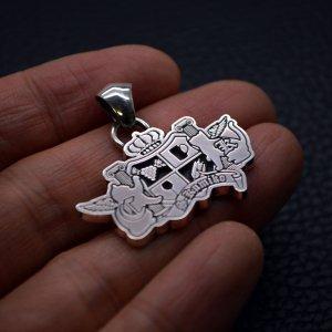 ■【持込デザイン】シルバー製オーダーメイド・ロゴ・ペンダント 墨入れ仕上げ