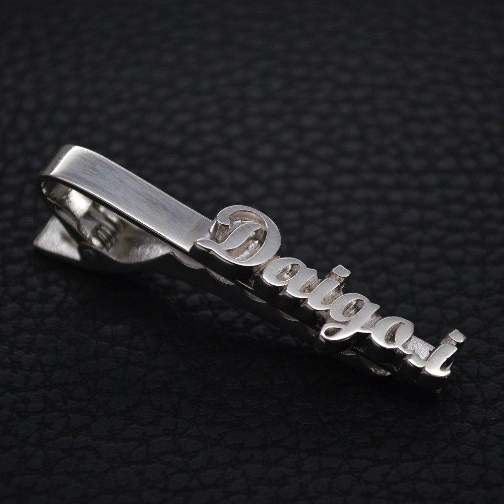 ■名入れネクタイピン製作例【Daigo.i】イングランド書体