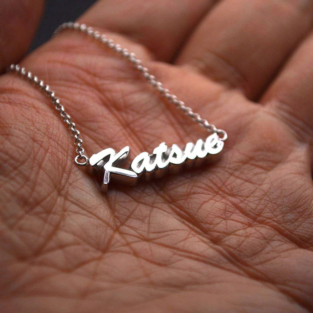 ■名前ネックレス製作例【Katsue】