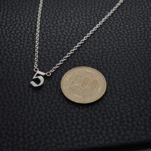 ■オーダーメイドナンバーネックレス製作例【5】