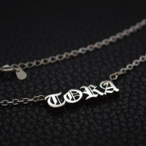 ■オーダーメイドメンズネックレス製作例【TORA】 オールドイングリッシュ書体