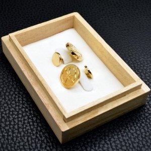 ■家紋カフスボタン(銀製 18金めっき)