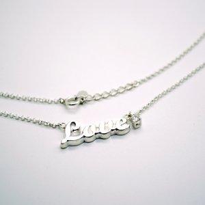 ■シルバー製ネームネックレス-銀無垢仕上げ-[イングランド書体] ※50(48)cmチェーン付