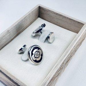 ■オーダーメイド 家紋カフスボタン(銀製)