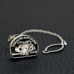 ■持込ロゴマーク入りオリジナル銀製ピンバッジ・タイタック通販オーダー製作