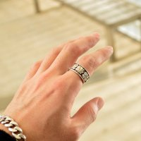 ■ 漢字刻印指輪オーダーメイド【幅11mm】お好きな10字前後で