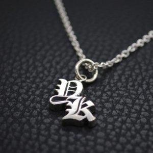 ■【YK】イニシャルネックレス2文字製作例