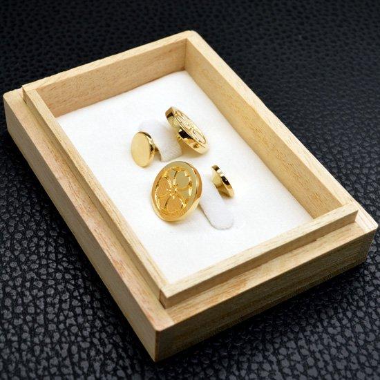 ■丸に剣片喰 18金めっき 家紋ネクタイピン 製作例