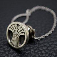 ■丸に結い芝 家紋ネクタイピン 製作例