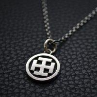 ■伊庭八郎の家紋 「丸に枷木久留子紋」 銀製ペンダントネックレス製作例