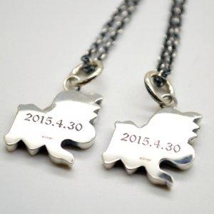 ■【YM】イニシャルネックレス2文字製作例