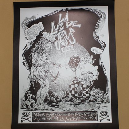 S CLAY WILSON SHOW POSTER BLACKxSILVER 1990