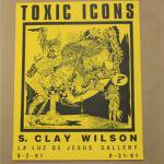 S CLAY WILSON SHOW POSTER YELLOW 1991