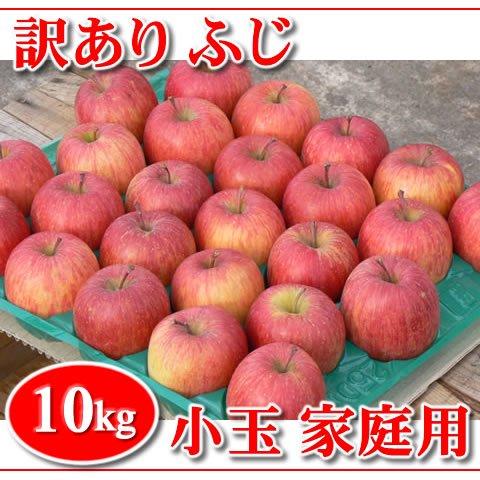 【在庫限り!】訳あり!秋田りんご『ふじ小玉』家庭用 10kg