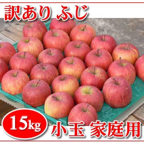 【在庫限り!】訳あり!秋田りんご『ふじ小玉』家庭用 15kg
