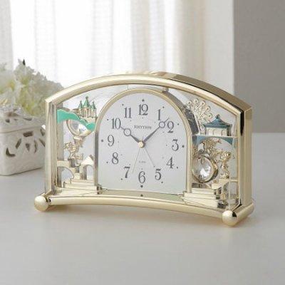 リズム 置時計(アラーム付) 4SE540SR18 [10]