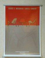 HANS J. WEGNER SHELL CHAIR Poster & ORSKOV Poster Hanger silver50cm set