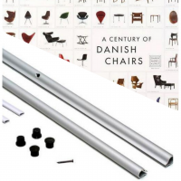セット商品 ポスターハンガーシルバー70cm&A CENTURY OF DANISHI CHAIRSポスター