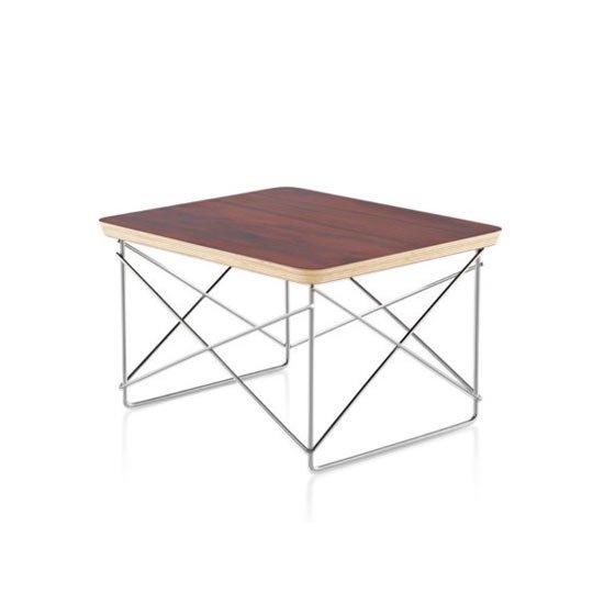 イームズワイヤーベーステーブル LTRT トップ 9N サントスパリサンダー ベース 98 スタジオホワイト