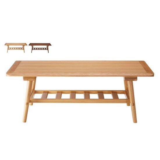 LT-60-N110 リビングテーブル<br>ホワイトオーク<br>ローテーブル 長方形 HOMEDAY
