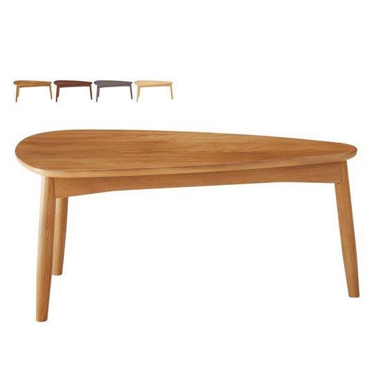 LT-75-A リビングテーブル<br>ナチュラル ウッディグレー<br>三角形 HOMEDAY