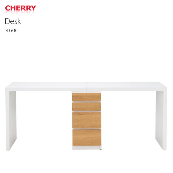 SD-610 デスク ツインデスク チェスト付き HOMEDAY CHERRY 桜屋工業